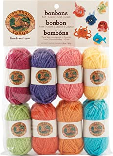 Lion Brand Yarn 601-610 Bonbons Yarn, Package, Brights