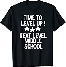 Level Up Middle School 5th Grade Graduation Party T-Shirt