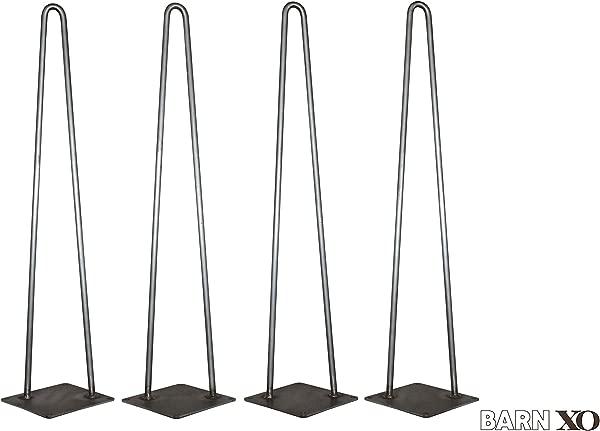 Hairpin Legs Table Legs DIY Legs Pin Leg Table Leg Bench Leg Set Of 4 Modern Industrial 2 Rod Hairpin Leg Base Raw Steel 12 Inch High 16 Inch 18 Inch 20 Inch 28 Inch Ships Free In 48 Hrs