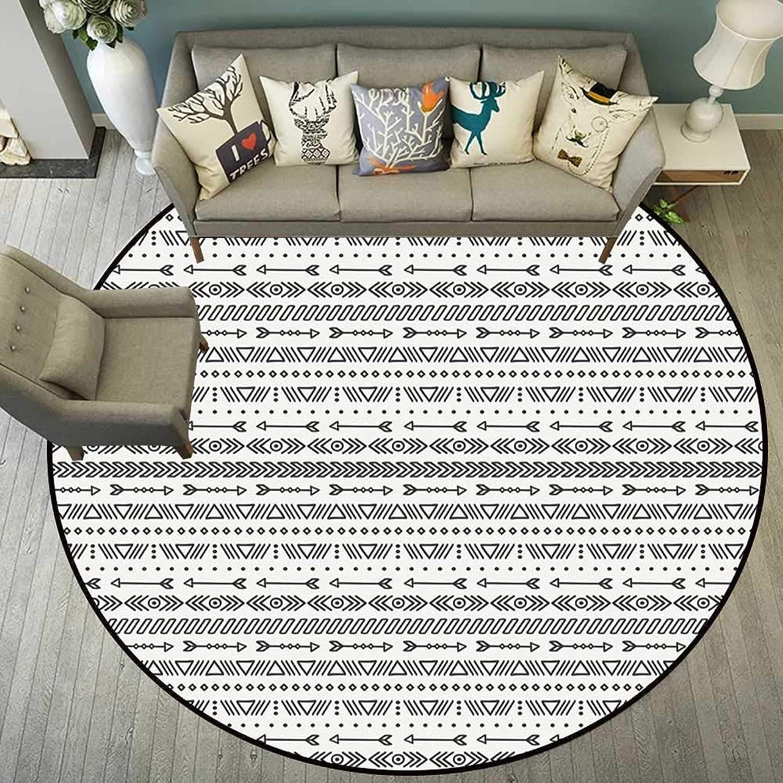 Circle Floor mat Entry Round Indoor Floor mat Entrance Circle Floor mat for Office Chair Wood Floor Circle Floor mat Office Round mat for Living Room Pattern 5'10  Diameter