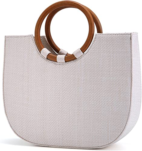 Summer Beach Bag, JOSEKO Women Straw Handbag Shoulder Bag Big Capacity Travel Top Handle Tote Purse