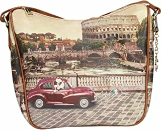 Y NOT? BORSA DONNA TRACOLLA ROMA VINTAGE YES603F2
