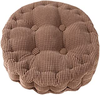 Uther Round Pads Extra Thick Chair Pads Tatami Cotton Seat for Home Office Cushion Decor Brown 19
