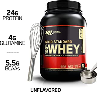 Optimum Nutrition Gold Standard 100% Whey Protein Powder, Unflavored, 1.92 Pound