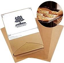 Fresher Kitchen Premium Unbleached Parchment Paper Sheets - 110 Sheets - Exact Fit for 12x16 Half-Sheet Baking Pans
