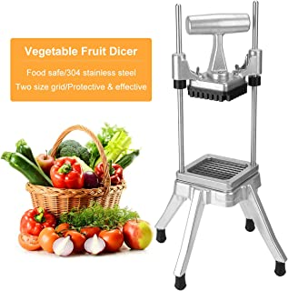 WICHEMI Vegetable Fruit Dicer Commercial Easy Chopper Dicer Cutter Kattex Chopper Stainless Steel for Onion Tomato Peppers Potatoes Mushrooms (1/4