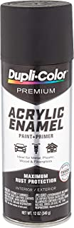 Dupli-Color Epae10200 Premium Acrylic Enamel Spray Paint (Pae102 Flat Black 12 Oz), 12. Fluid_Ounces
