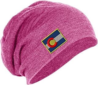 405ff6d7b9de0 Speedy Pros Colorado Flag State Embroidered Unisex Adult Acrylic Slouch  Beanie