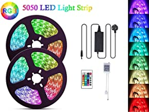 Decoration Lights LED Strips 10 meters [Complete kit] - RGB Multicolour Rope Light Strip Kit with Remote and RGB Controller for Celebrations, Weddings, Party events, mood lighting