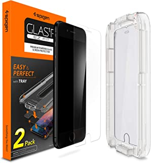 Spigen Tempered Glass Screen Protector [Installation Kit] Designed for iPhone 8 Plus (2 Pack)