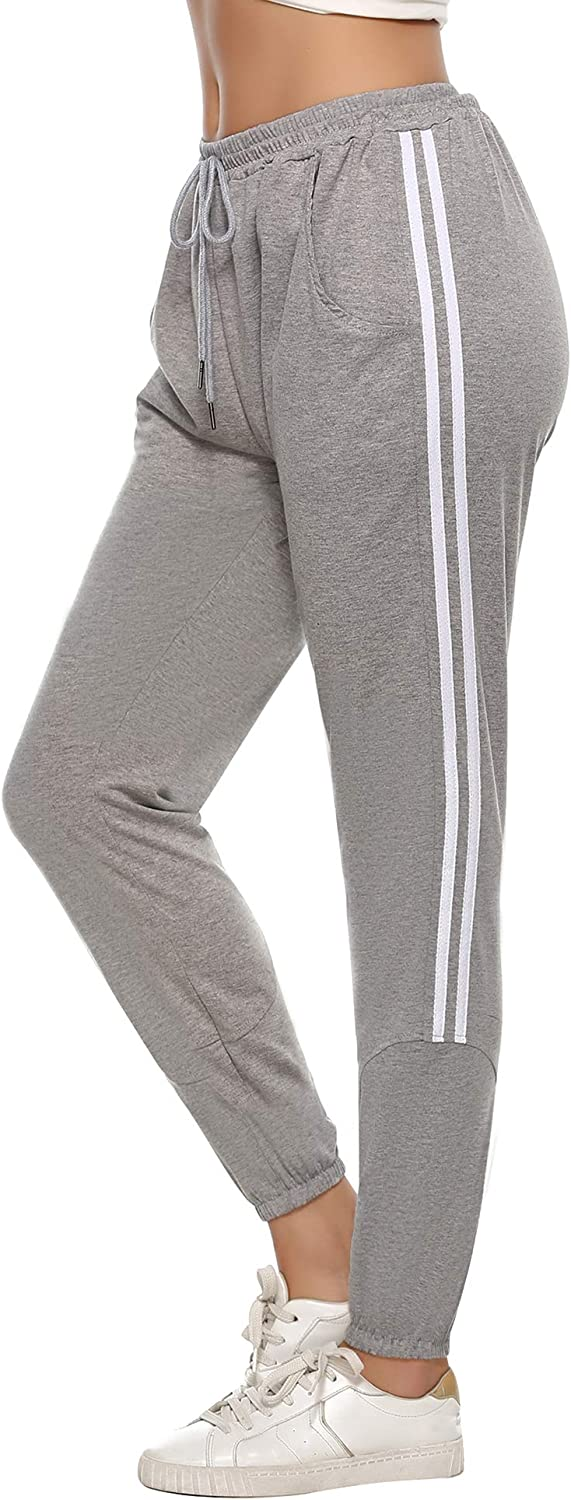 5 ☆ very popular Sykooria Womens Comfy Sweatpants Tapered Pockets Joggers with Lo Spring new work