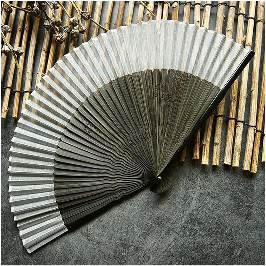 Folding Fan Crepe Dedication Cloth Hand Japan Maker New Dan Style Retro