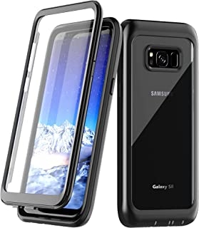 Samsung Galaxy S8 Case, Singdo Built-in Screen Protector Cover 360 Degree Protection Rugged Clear Bumper Case for Samsung Galaxy S8 (Black)
