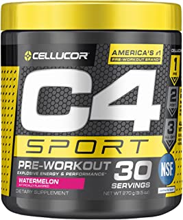 C4 Sport Pre Workout Powder Watermelon - NSF Certified for Sport + Preworkout Energy Supplement for Men & Women - 135mg Ca...