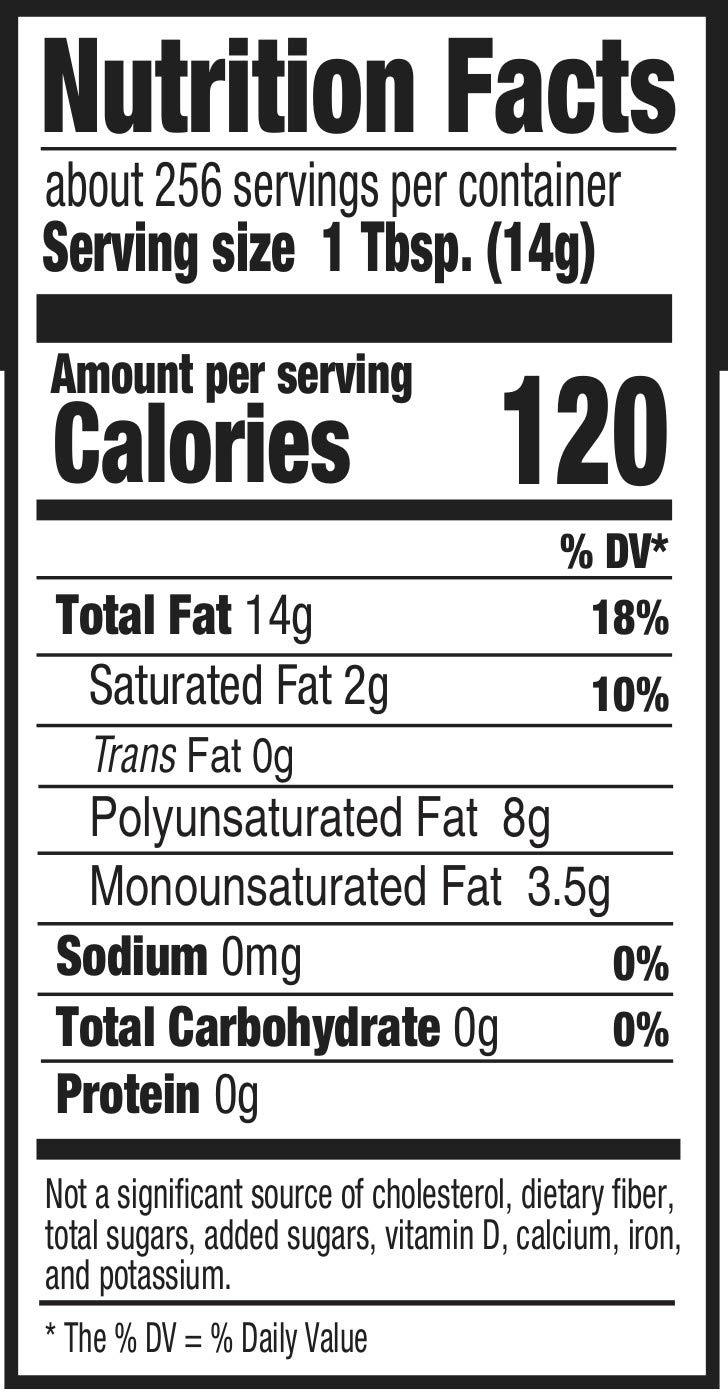 Amazon Brand - Happy Belly Vegetable Oil, 1 Gallon (128 floz)