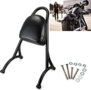 Short Sissy Bar Backrest Back Rest Pad For Harley Sportster Iron 883 Nightster 1200 XL 48 72 2004-2016 Weld (Black)