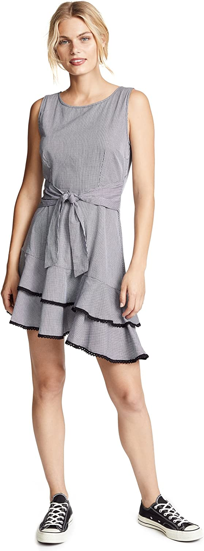 BB Dakota Women's Holly Golightly Gingham Dress, Black, 6