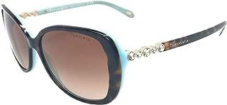 Tiffany & Co. Womens TF4121B 81343B Havana Blue /Brown Gradient Sunglasses