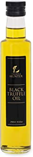 TruffleHunter Black Truffle Oil (8.45 Oz) [Double Concentrated] Extra Virgin Olive Oil Salad Dressing Seasoning Gourmet Food Condiments - Vegan, Kosher, Vegetarian and Gluten Free