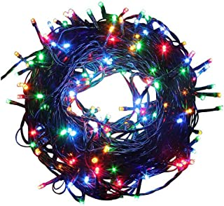 AUA LED Strip Lights Christmas Lights Battery Operated String Lights Outdoor String Lights 66ft 200Leds with 8 Modes, Waterproof Battery Operated Christmas Lights for Patio, Garden(Multi Color)