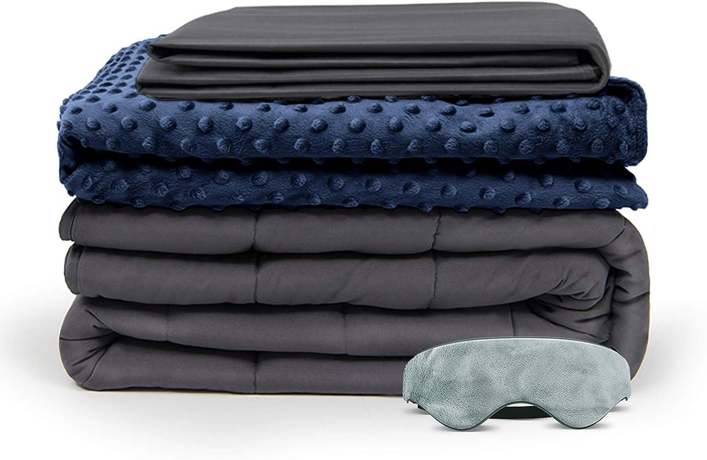 豪華な BUZIO Weighted Blanket 4 Piece Set Duvet NEW売り切れる前に☆ Covers with Removable 2
