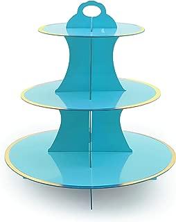 Adorox 3-Tier Round Cardboard Cupcake Stand (12