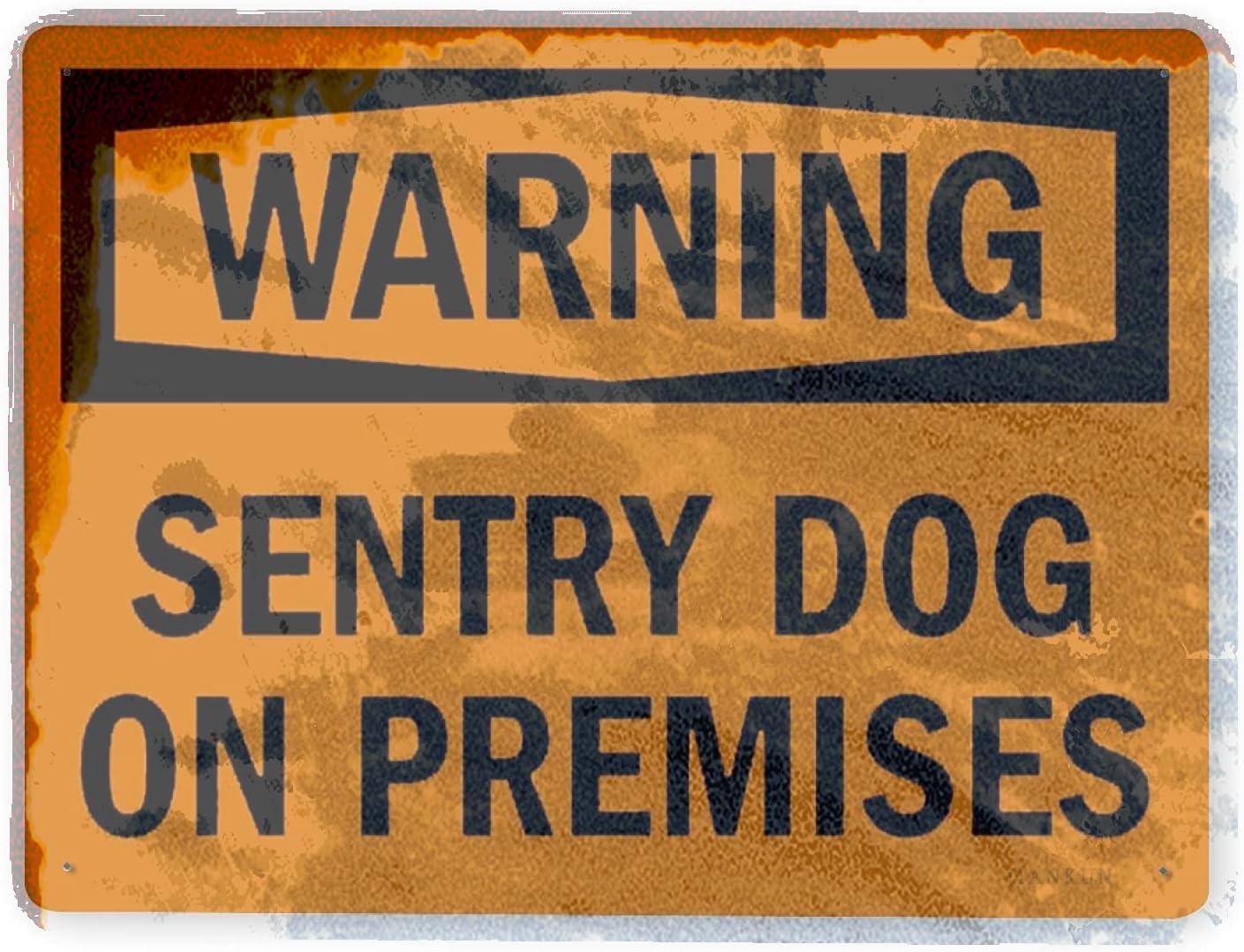 J.DXHYA Man Genuine Cave Decor 2 Pieces On Sign Award Warning Dog Sentry Premi