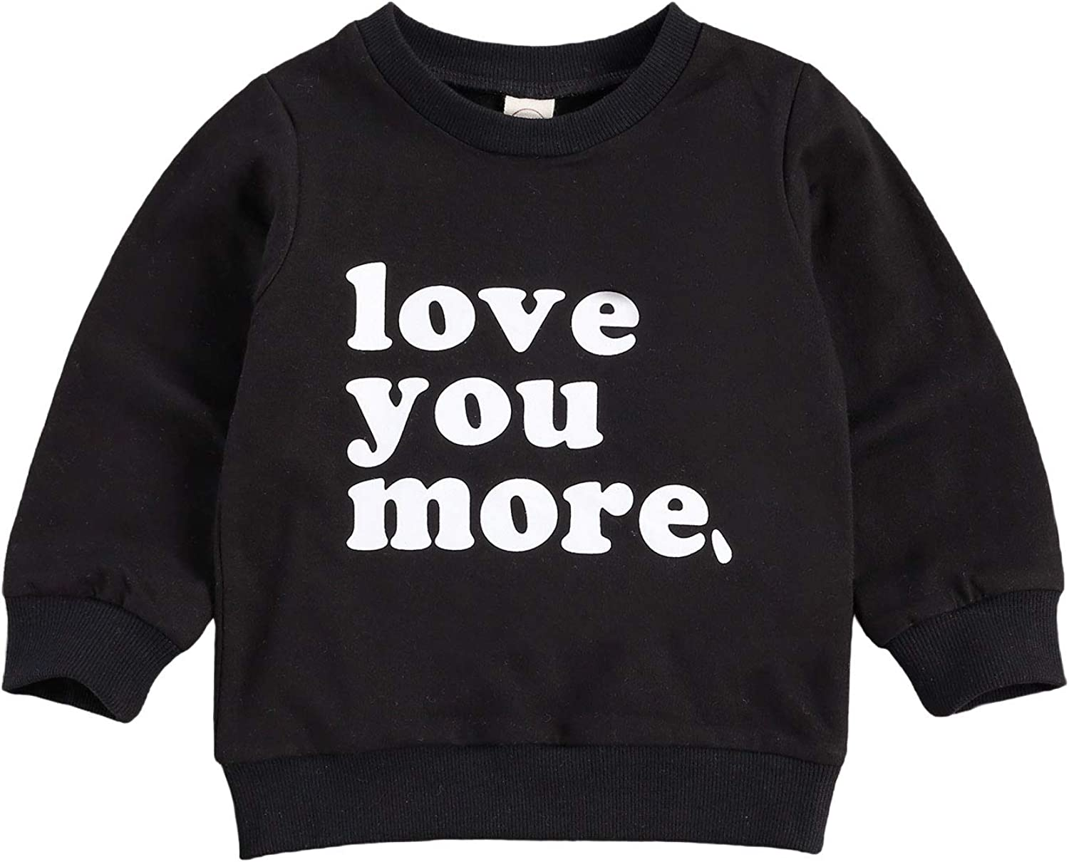 Toddler Baby Girl Boys Pullover Top Letter Babe Printed Causal Long Sleeve Sweatshirt Infant Fall Winter Clothes