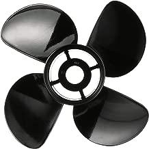 Quicksilver Nemesis 4-Blade Aluminum Propeller - Right Hand Rotation, Black Finish