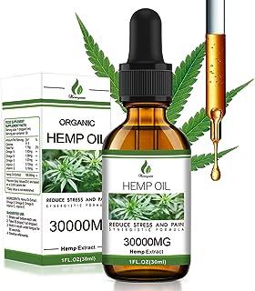 Sponsored Ad - Natural Hemp Oil 30000MG, Organic Hemp Seed Extract Improve Skin & Hair, Rich in Omega 3-6-9 Fatty Acids fo...