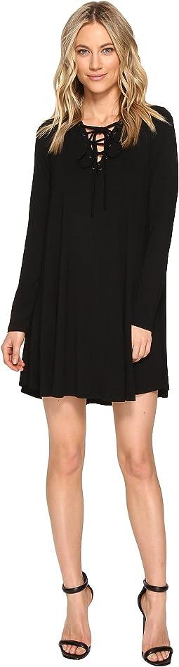 Culture Phit - Rozelle Long Sleeve Tie-Up Dress