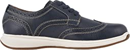 Navy Milled Leather/White Sole