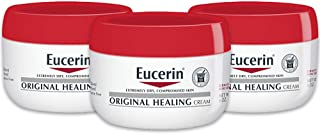 Eucerin Original Healing Cream - Fragrance Free, Rich Lotion for Extremely Dry Skin - 4 oz. Jar (Pack of 3)