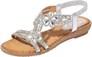 Yongkang Dejianhong-sandal Flower Crystal Flat Sandals Beach Casual Shoes Sexy Outside Ladies Shoes