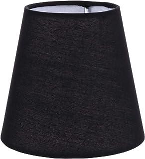 OSALADI Noir Tissu Abat-Jour Baril Abat-Jour en Tissu Cache-Poussière Chevet Lumière Couverture Ménage Luminaire Abat-Jour...