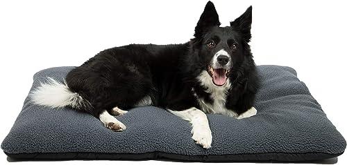 ZOLLNER Cama para Perros, colchoneta para Mascotas, Aprox.67x95 cm Lavable, Gris