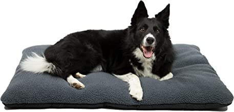 ZOLLNER Hundebett Hundekissen 70x100 cm, waschbar, grau, Antirutschnoppen, 203