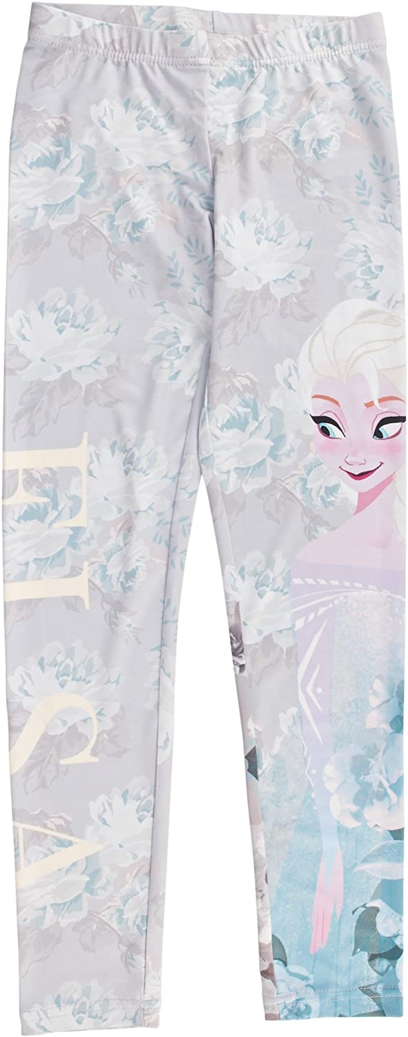 Disney Frozen Elsa Girls Floral Print Leggings