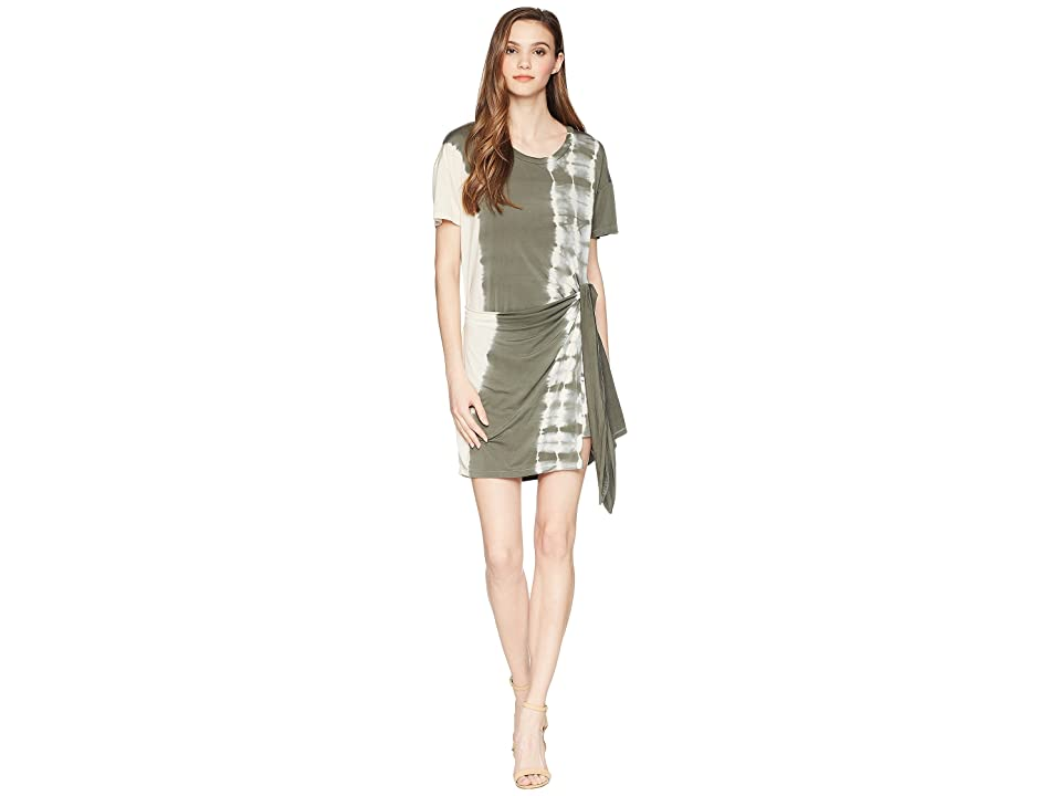 Young Fabulous & Broke Pamella Dress (Green Olive Radial) Women