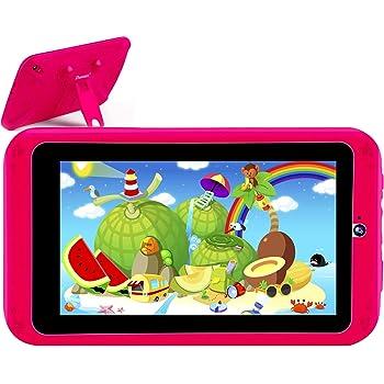 PROGRACE キッズタブレット 7インチ 2GB RAM + 16GB ROM Android9.0 GMS認証 キッズモデル HDディスプレイ キッズタブレット目に優しい 子供モード ペアレンタルコントロール付 き 子どもプレゼント 保護ケース付き ピンク