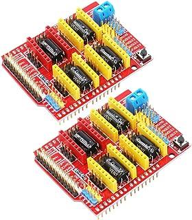 2 piezas A4988 V3 Engravador Drive Shield Impresora 3D CNC Drive Placa de Expansión para Arduino Impresora 3D CNC