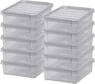 SmartStore - Lot de 10 Boîtes de Rangement - Rangez Votre Maison avec Style et Praticité - Colour 14 - Gris Transparent - ...