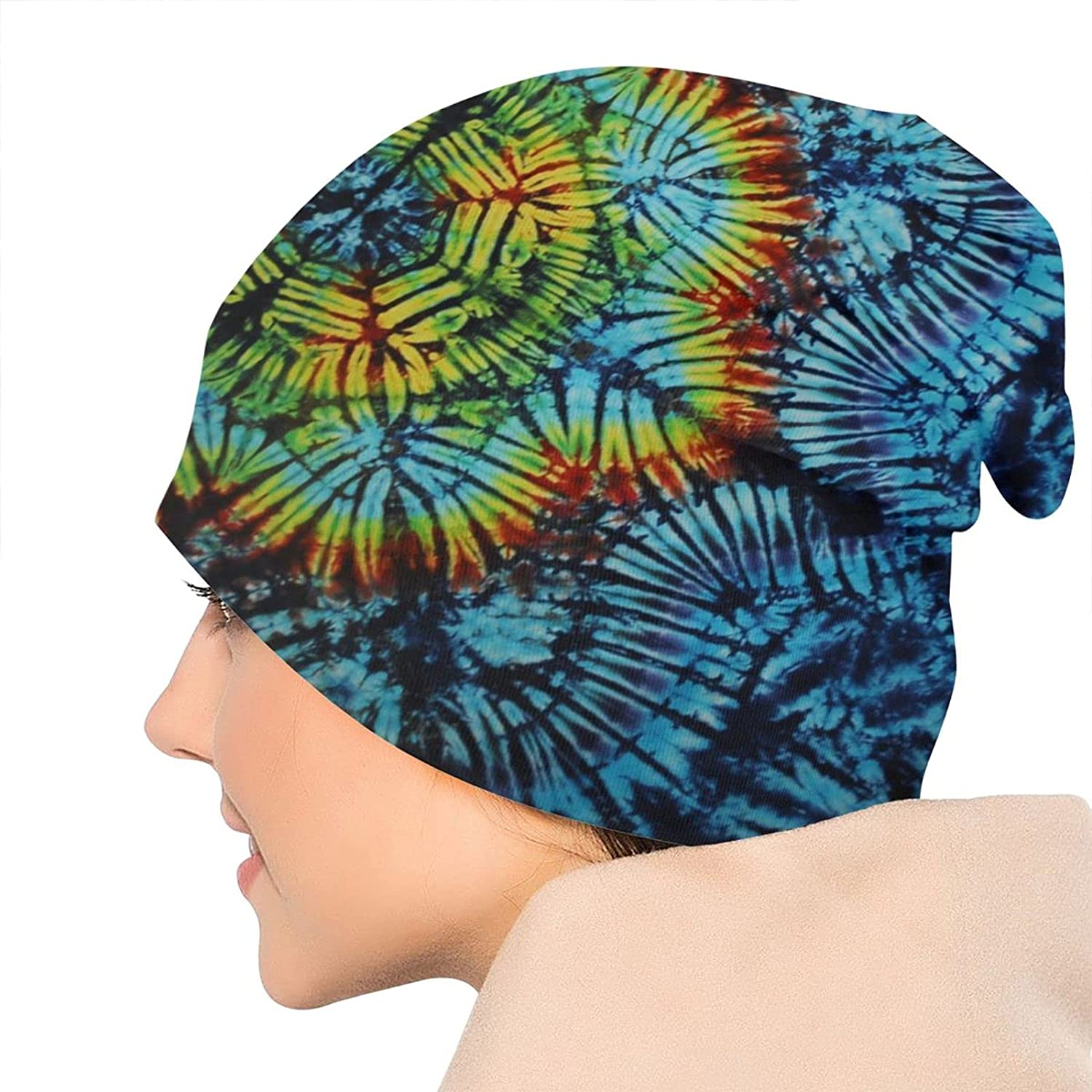 Beanie Hat for Men and Women,Trippy Black Light Tapestry Lightweight Balaclava Cap,Soft Stretch Slouchy, Suit for Outdoor All Seasons
