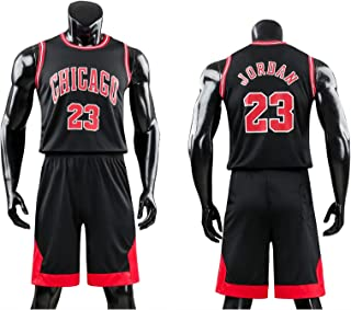 Daoseng Kinder Junge Herren Michael Jordan # 23 Chicago Retro Basketball Shorts Sommer Trikots Basketballuniform Top & Shorts Basketball Anzug