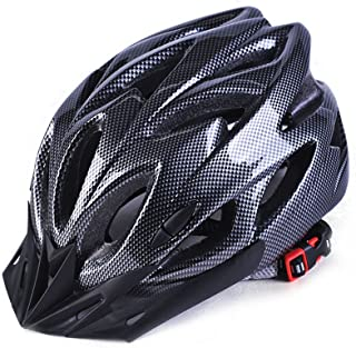 Coromose Bicycle Helmet Integrated Molding Breathable Cycling Helmet for Man Woman Carbon Black Free Size