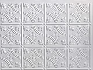 Fasade Easy Installation Traditional 1 Matte White Backsplash Panel for Kitchen and Bathrooms (18