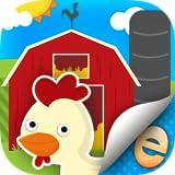 Autocollants D'Animaux Pour Les Enfants Activité Agricole Scène Builder Premium