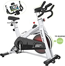 SNODE Indoor Cycling Bike - Stationary Spin Bike, Exercise Bike with Tablet Holder, LCD Monitor for Professional Cardio Workout, Indoor Home Cardio Exercise Training