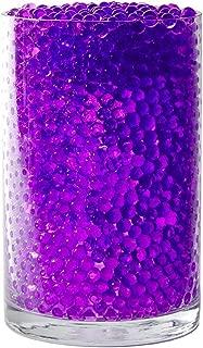 SooperBeads 20,000 Vase Filler Beads Gems Water Growing Purple Hydro Gel Crystal Soil Pearls for Vases, Wedding Centerpiece, Floral Decoration, Plants, Kids Sensory Play Table Activities (Lavender)