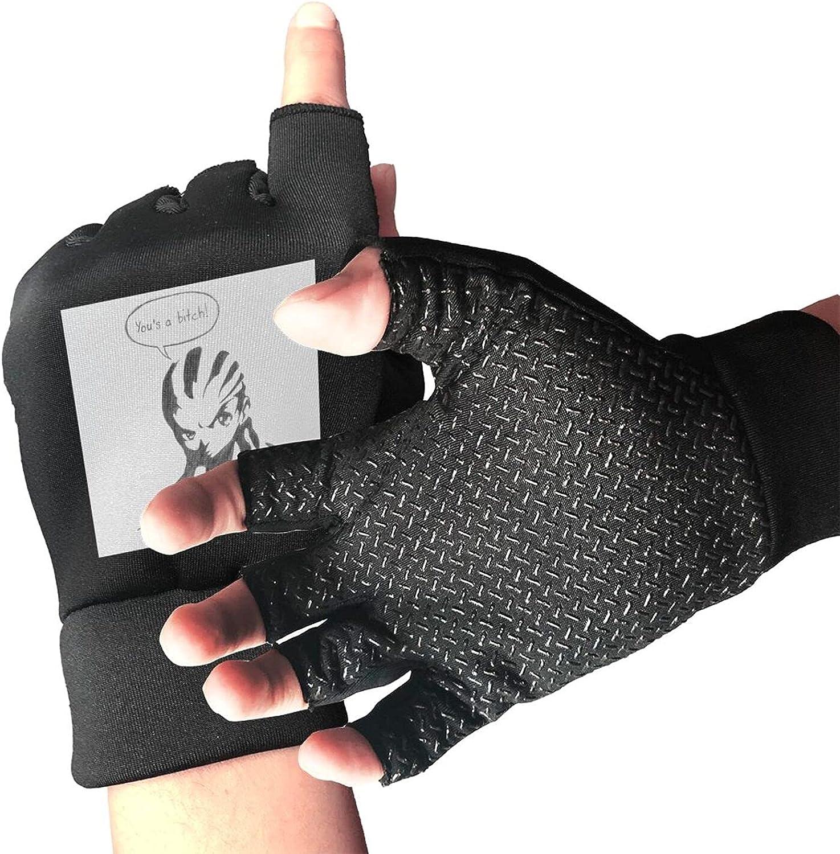 The Boondocks Huey Freeman Knitted Mittens Gloves Stretchy Warmer Fingerless Non Slip Gloves For Unisex